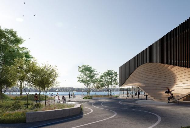 3XN win waterfront climatorium competition