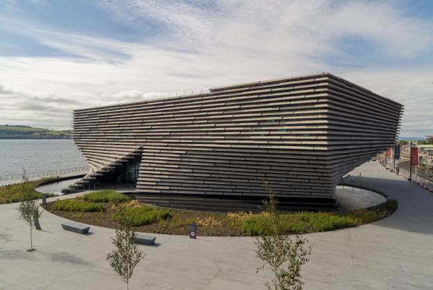 Drone footage gives fresh perspective on new V&A Dundee