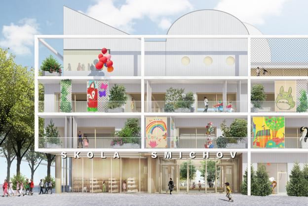 Designs revealed for first new school in central Prague for nearly 100 years