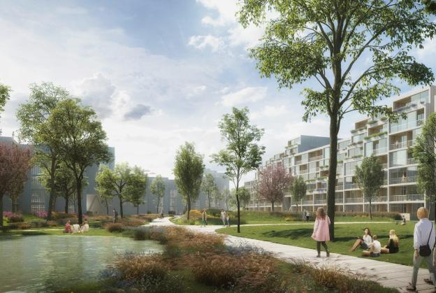 Competition results revealed for new residential district in Prague